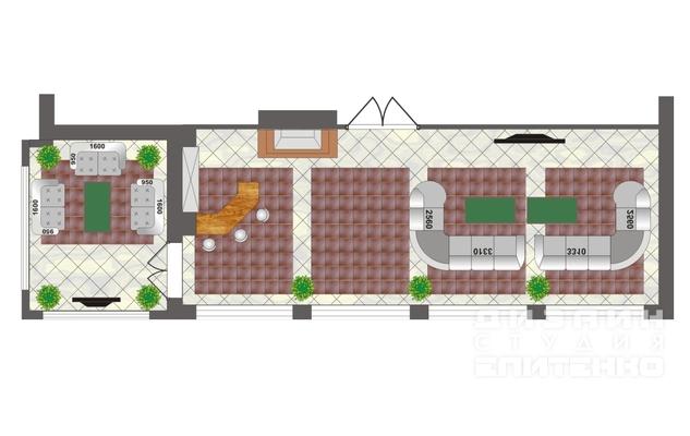 планировка каминного зала